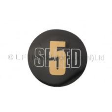 5 Speed Sticker