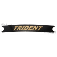 Decal - Trident -Black/Gold T150 long