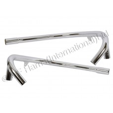 Exhaust Pipes - T100R 1973 Push In